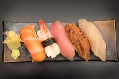 Sistema del sushi del Sashimi Imágenes de archivo libres de regalías