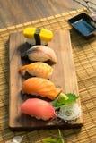 Sistema del sushi del Sashimi Fotos de archivo