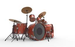 Sistema del tambor en aislado ilustración del vector