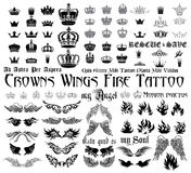 Sistema del tatuaje Imagenes de archivo
