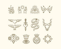 Sistema del tatuaje del vector Foto de archivo