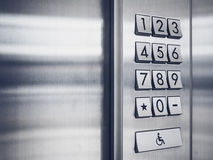 Sistema del telclado numérico de la seguridad del código de la contraseña protegido Imágenes de archivo libres de regalías