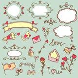 Sistema del tema del amor stock de ilustración