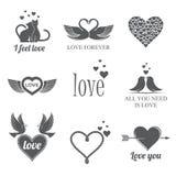 Sistema del tema del amor Imagen de archivo libre de regalías