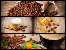 Sistema del tema del café Foto de archivo libre de regalías