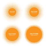 Sistema del tono medio Logo Design Elements del círculo de Sun Icono del vector de Sun Fotografía de archivo