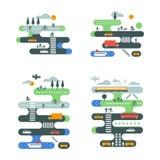 Sistema del tráfico de ciudad stock de ilustración