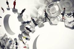 sistema del trabajo en equipo del concepto del engranaje de la representación 3D libre illustration