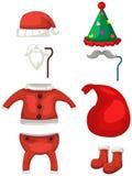 Sistema del traje de los ciervos de la Navidad Imagen de archivo libre de regalías
