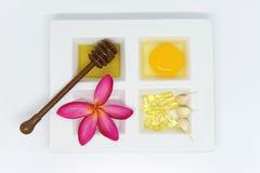 Sistema del tratamiento de la belleza de la atención sanitaria Foto de archivo libre de regalías