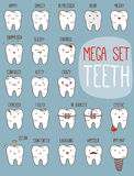 Sistema del tratamiento de los dientes Colección dental para su Foto de archivo libre de regalías