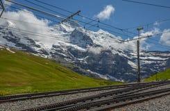 Sistema del treno dello svizzero, Svizzera Immagine Stock Libera da Diritti