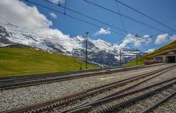 Sistema del treno dello svizzero, Svizzera Fotografie Stock Libere da Diritti