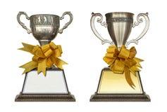Sistema del trofeo aislado foto de archivo libre de regalías