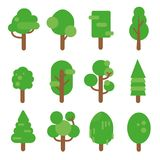 Sistema del vector del árbol Imagen de archivo libre de regalías