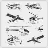 Sistema del vector del aeroplano y del helicóptero libre illustration