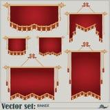 Sistema del vector banderas de diversos formas y tamaños Fotografía de archivo