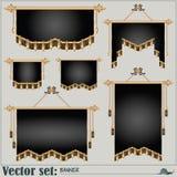 Sistema del vector banderas de diversos formas y tamaños Foto de archivo