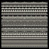 Sistema del vector de ajustes del cordón Fotos de archivo libres de regalías