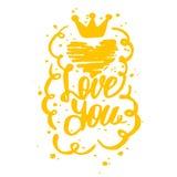 Sistema del vector de amor Muestra feliz del día de tarjetas del día de San Valentín Foto de archivo libre de regalías