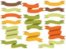 Sistema del vector de Autumn Ribbons stock de ilustración