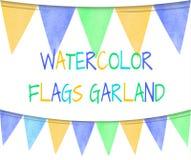 Sistema del VECTOR de banderas coloridas Imagen de archivo libre de regalías