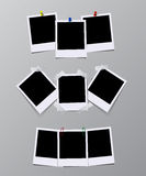 Sistema del vector de bastidores de la foto del vintage ilustración del vector