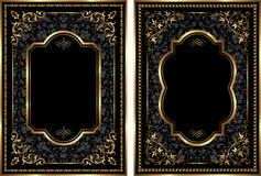 Sistema del vector de bastidores del estilo del vintage del oro Imagen de archivo libre de regalías