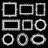 Sistema del vector de bastidores ornamentales decorativos Imagenes de archivo