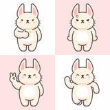 Sistema del vector de caracteres lindos del conejo ilustración del vector