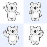 Sistema del vector de caracteres lindos del oso de koala ilustración del vector