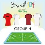 Sistema del vector de diversas camisas del uniforme del fútbol del fútbol Fotos de archivo libres de regalías