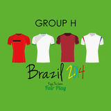 Sistema del vector de diversas camisas del uniforme del fútbol del fútbol Fotografía de archivo libre de regalías