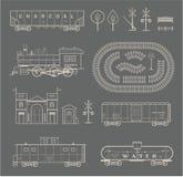 Sistema del tren del vector Fotos de archivo
