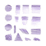 Sistema del vector de diversos movimientos del lápiz Imagenes de archivo