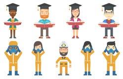 Sistema del vector de ejemplos con los graduados libre illustration