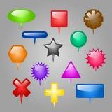 Sistema del vector de elementos del Web. Imagenes de archivo