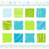 Sistema del vector de elementos del garabato libre illustration