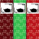 Sistema del vector de elementos y de iconos del diseño en el estilo linear de moda para el paquete del té - té chino stock de ilustración