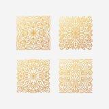 Sistema del vector de emblemas cuadrados abstractos ilustración del vector