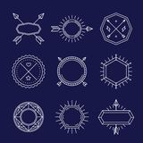 Sistema del vector de emblemas y de insignias del esquema Imagenes de archivo