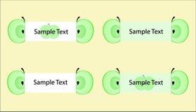 Sistema del vector de etiquetas de la manzana Fotos de archivo libres de regalías