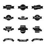 Sistema del vector de etiquetas del estilo Fotos de archivo