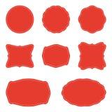 Sistema del vector de etiquetas y de insignias en blanco libre illustration