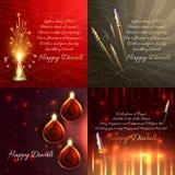 Sistema del vector de fondo del diwali Foto de archivo libre de regalías