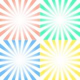 Sistema del vector de fondos con los rayos simétricos centrados Fotos de archivo