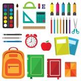 Sistema del vector de fuentes de escuela ilustración del vector
