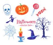 Sistema del vector de Halloween Fotografía de archivo