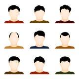 Sistema del vector de iconos de la gente aislados en el fondo blanco Imagenes de archivo