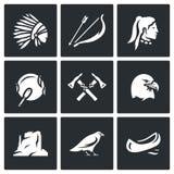 Sistema del vector de iconos de los apaches libre illustration